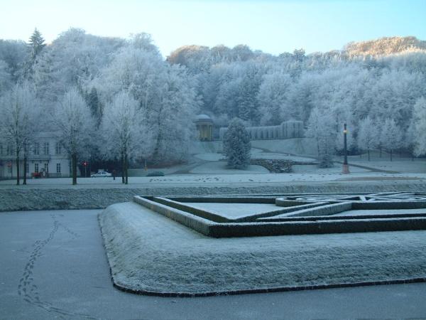Heb je de witte bostuin (Forstgarten) in Kleve al gezien?