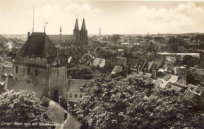 Blick von der Schwanenburg auf Cleve