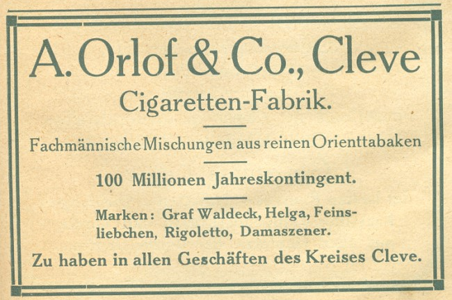 zigarettenfabrik orlof