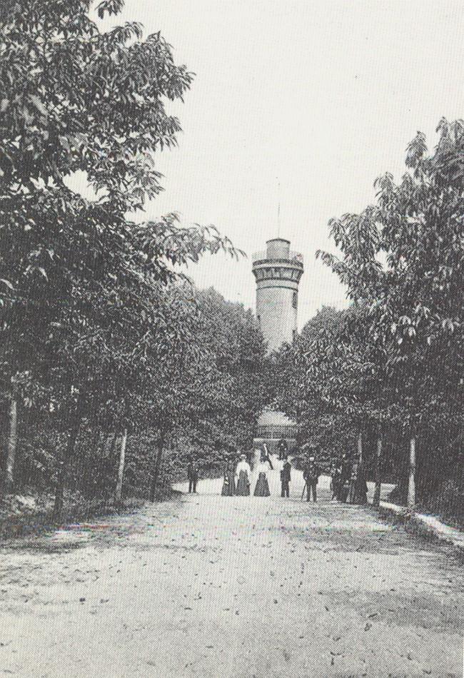 Der historische Aussichtsturm in Kleve