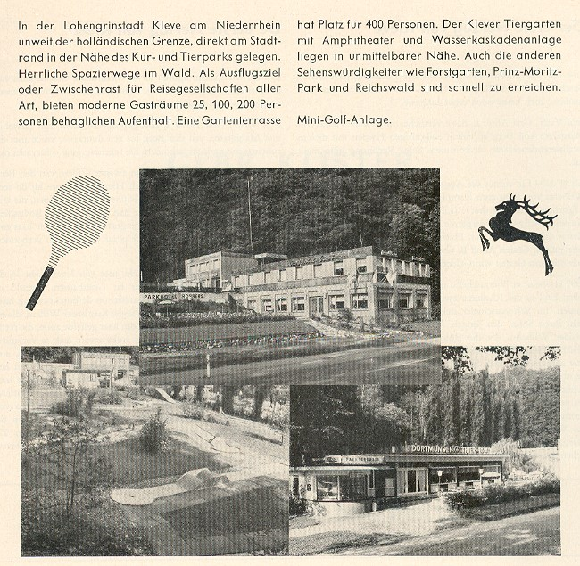 Minigolf im Parkhotel Robbers in Kleve