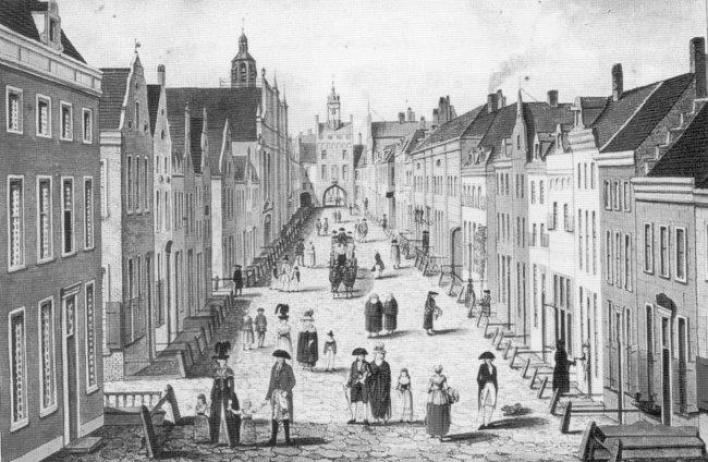 Die Große Straße von Kleve um 1791