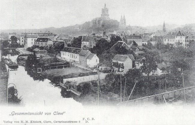 Ein seltener Anblick auf Cleve um die Jahrhundertwende