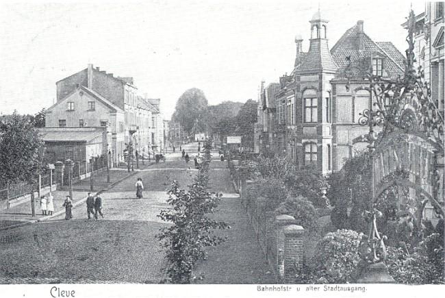 Klever-legendes: de oude stadsuitgang aan de Bahnhofstraße met