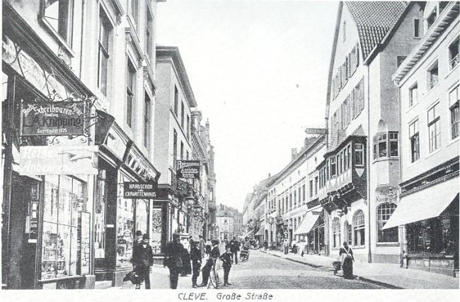 De winkels op Grosse Strasse met Kaiserhof