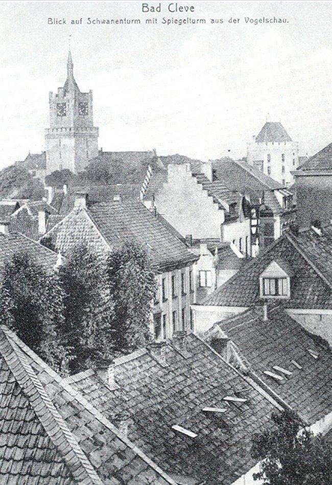Über den Dächern von Bad Cleve