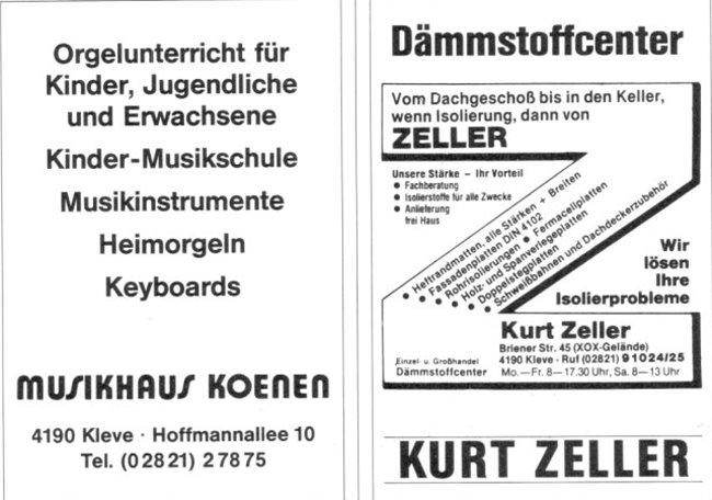 Kanntest Du noch Musikhaus Koenen und Dämmstoffe von Zeller