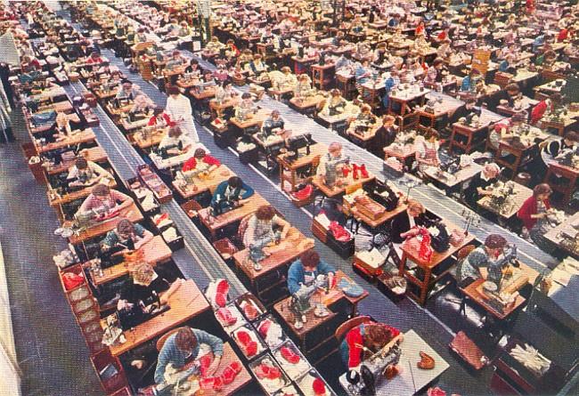 Die Stepperei der Schuhfabrik Gustav Hoffmann
