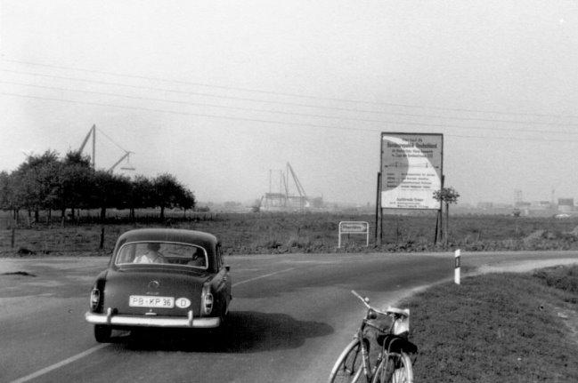 bau der rheinbrücke september 1963