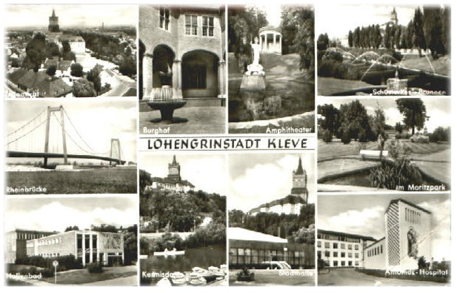 Op dat moment gezien? Lohengrinstadt Kleve in 1970