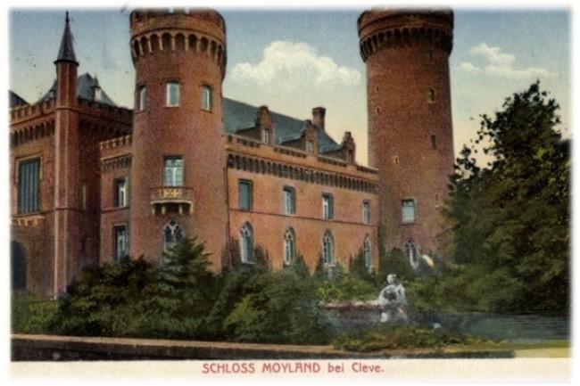 Het balkon van kasteel Moyland