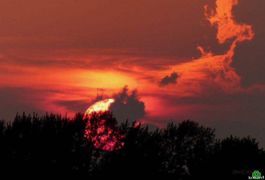 Sonnenuntergang an der Wetering