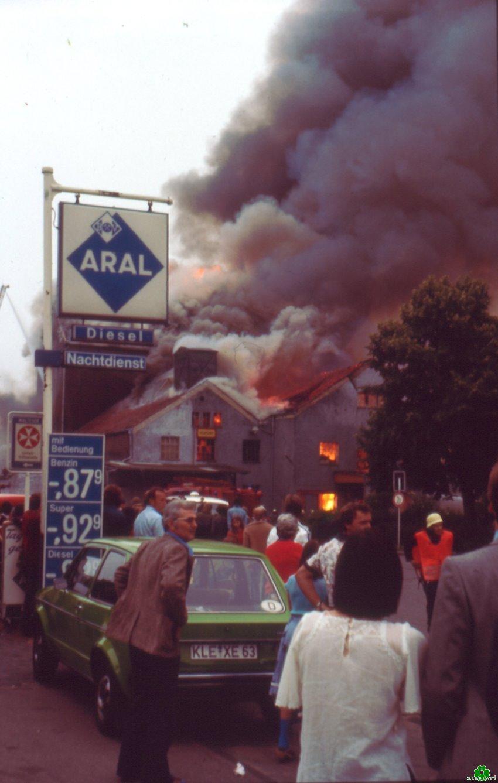 Großbrand in der Klever Unterstadt