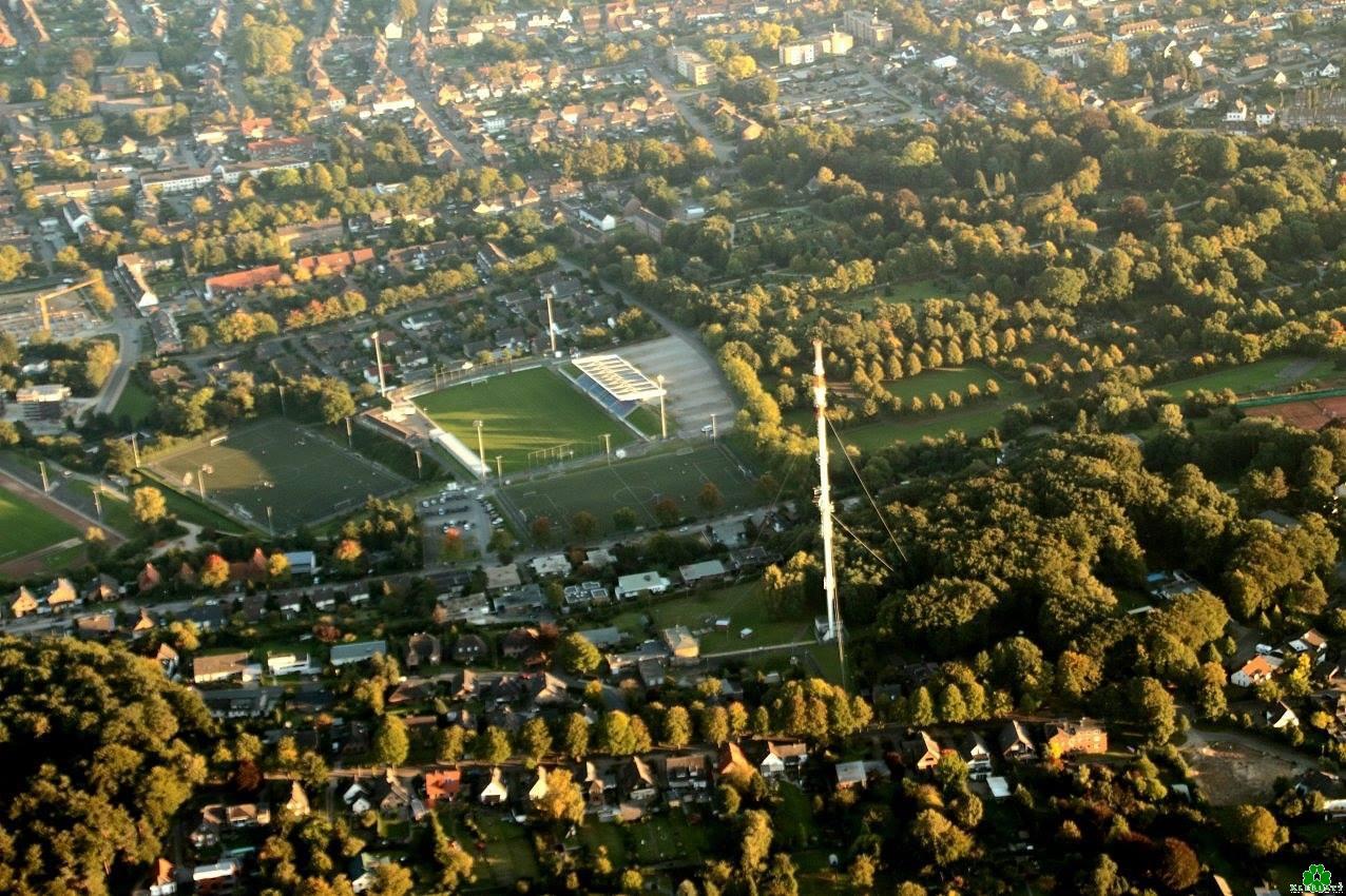 Das Fußball-Stadion von Kleve