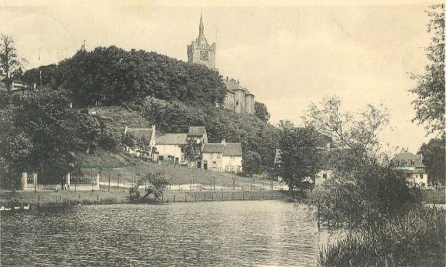 Die Schwanenburg auf prämiierter Ansichtskarte
