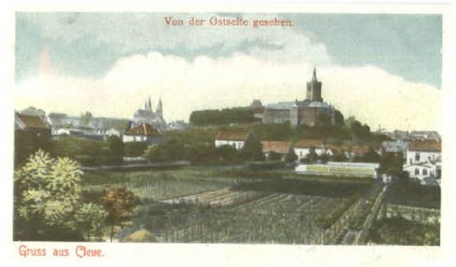 Blick von der Ostseite Kleves im Jahre 1899