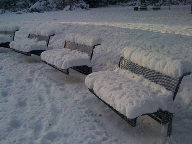 Schneebänke