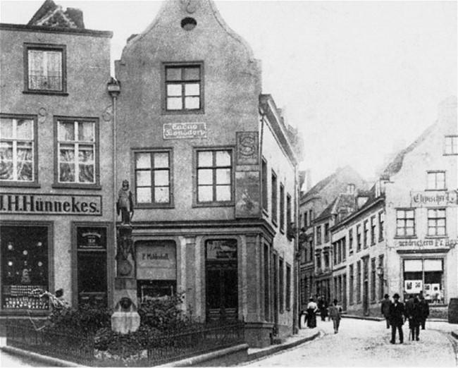 Hagsche Straße in Kleve um 1890
