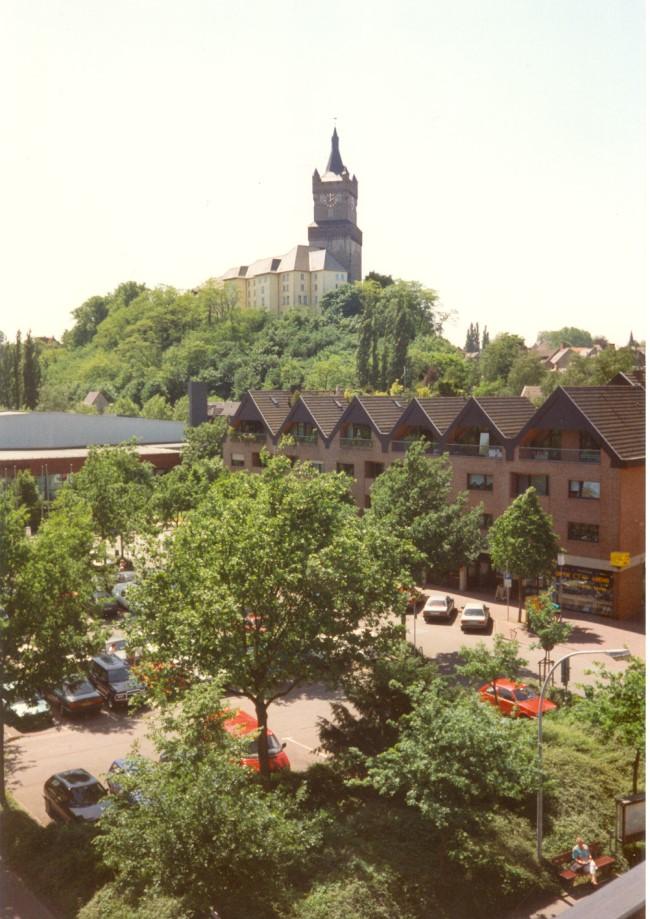 Die Schwanenburg vor über 25 Jahren im Grünen
