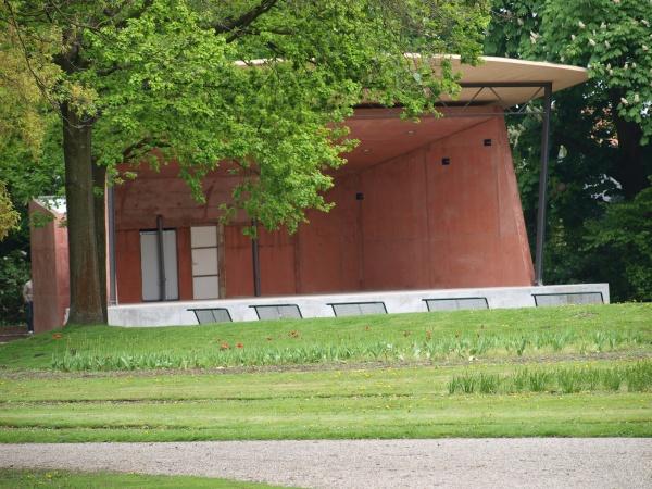 Die Konzertmuschel im Forstgarten in Kleve