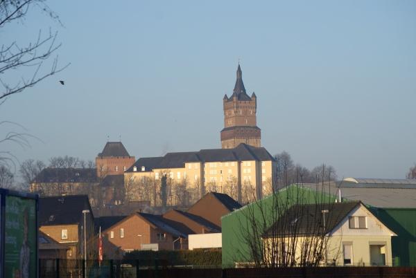 Kleve mit der Schwanenburg und Stiftskirche