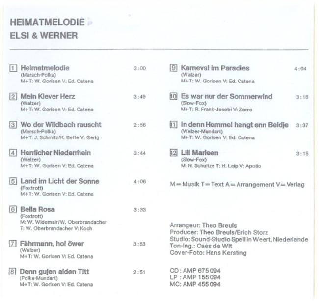 Kennste doch! Schlager und Volksmusik aus Kleve - Elsi und Werner Gorisen