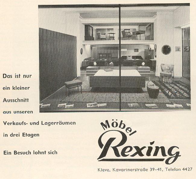 Möbel Rexing aus Kleve in den Sechzigern