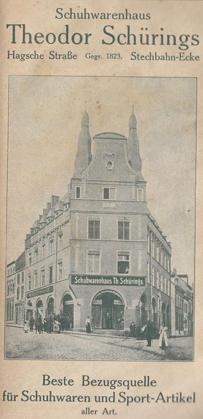 Schürings schoenenwinkel - tegenwoordig Neue Mitte in Kleve