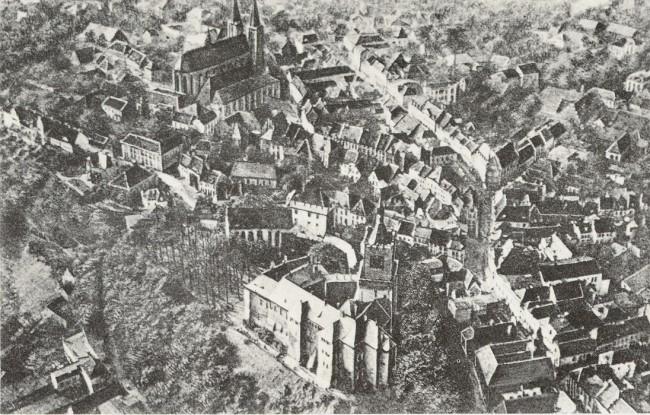 Erste Luftaufnahme von Cleve