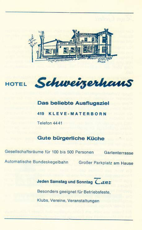 Het Schweizerhaus in Kleve - Hotel met flair