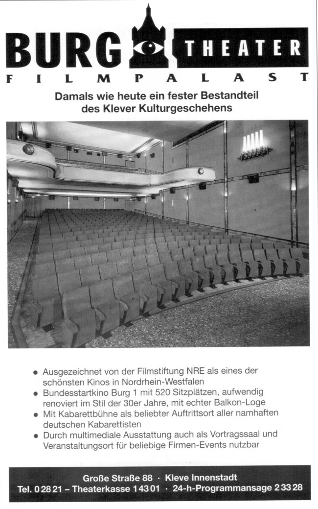 Old Love: The Burgtheater Filmpalast in Kleve