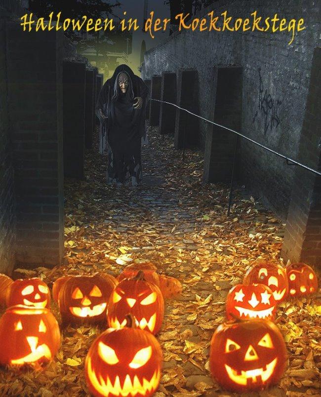 Halloween in der Koekkoekstege von Kleve