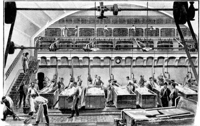 Die Kirnräume der Margarinefabrik Van Den Bergh