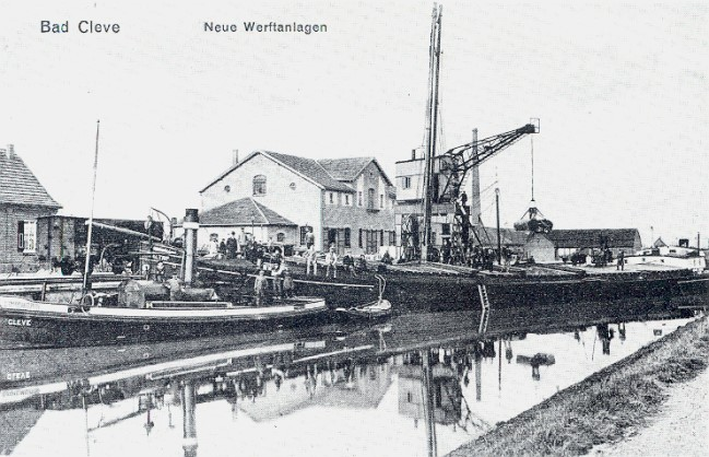De scheepswerffaciliteiten van de Kleefse haven