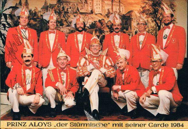 """1984 Prinz Aloys der Stürmische """"Aloys Schweers"""""""