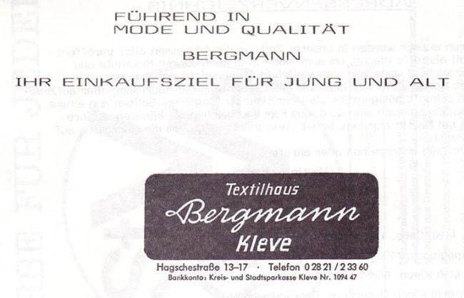 Erinnerst Du Dich noch an Textilhaus Bergmann?