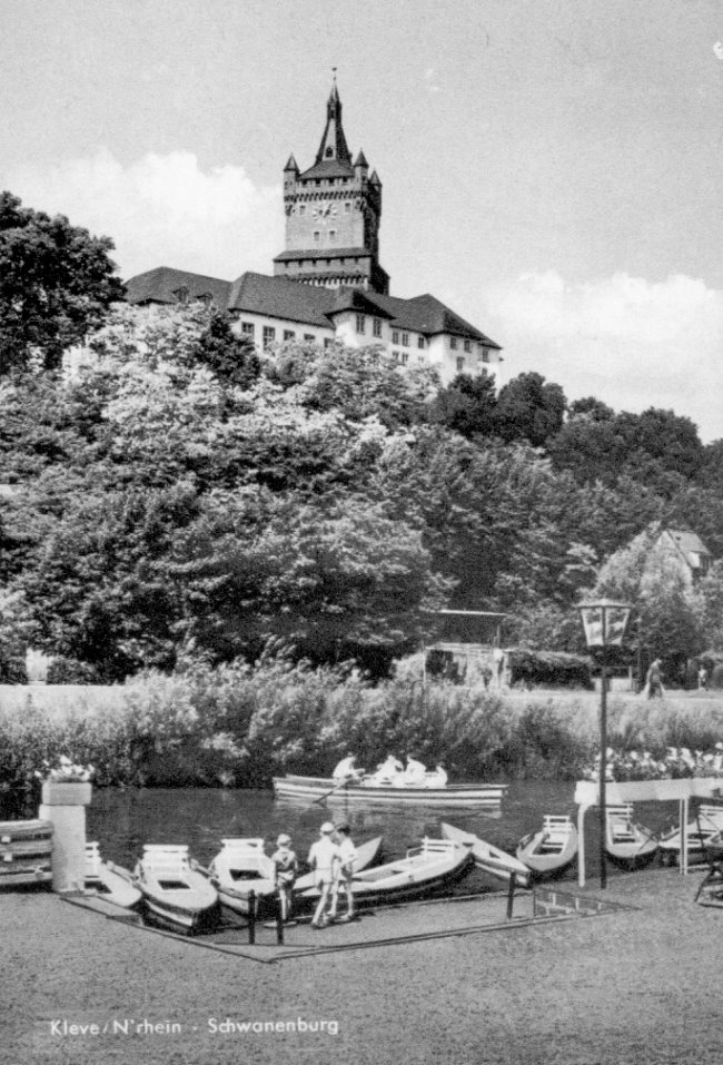 Leuke herinnering: kasteel en boten in Kleve