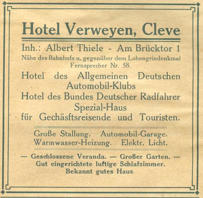Große Stallungen im Spezial-Haus Hotel Verweyen am Lohengrindenkmal