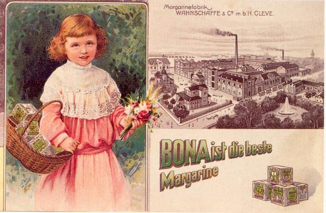 Margarinefabrik Wahnschaffe aus Kleve + die gute Bona