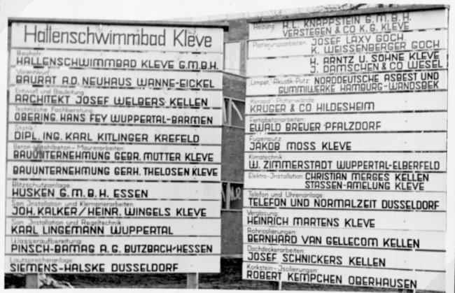 Wusstest Du wer das Hallenbad in Kleve baute?