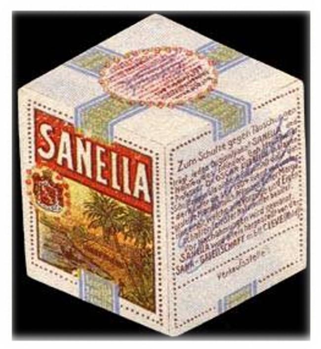 Nicht zu fälschen: Der Sanella-Würfel aus Kleve