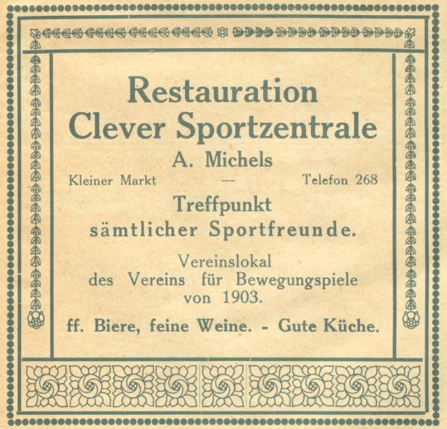 Restauration Clever Sportzentrale