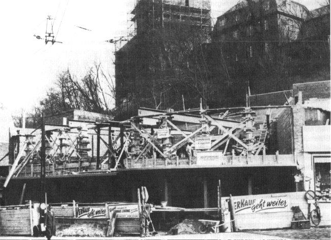 So war es damals: Wiederaufbau von Textilhaus Bergkammer