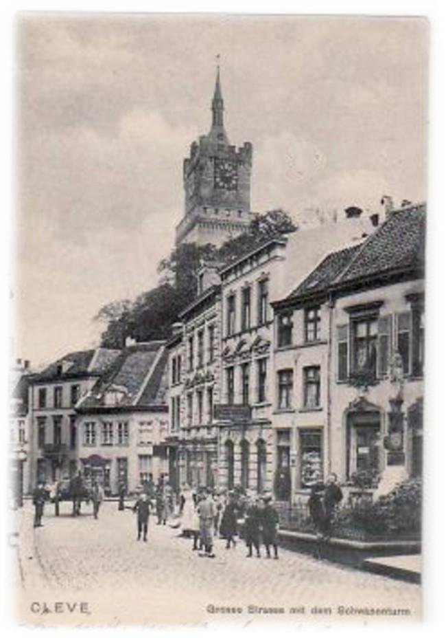 Klever Fußgängerzone im Jahre 1904