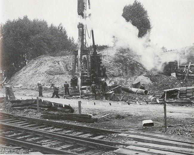 Der Bau der Rampenbrücke in Kleve