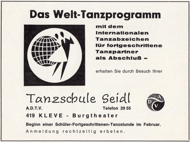 Hast Du auch im Burgtheater Kleve tanzen gelernt?