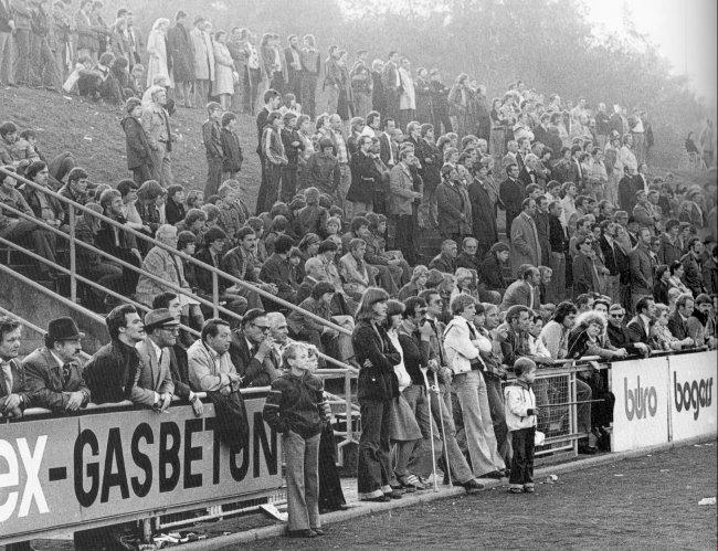 Fußball im Hoffmannstadion der Siebziger