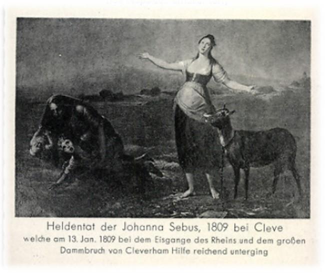Die Heldentat der Johanna Sebus 1809 bei Cleve