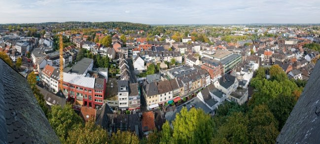 Abgerundet: Die Große Straße in Kleve
