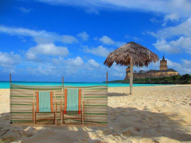 Eine Strandbar in Kleve